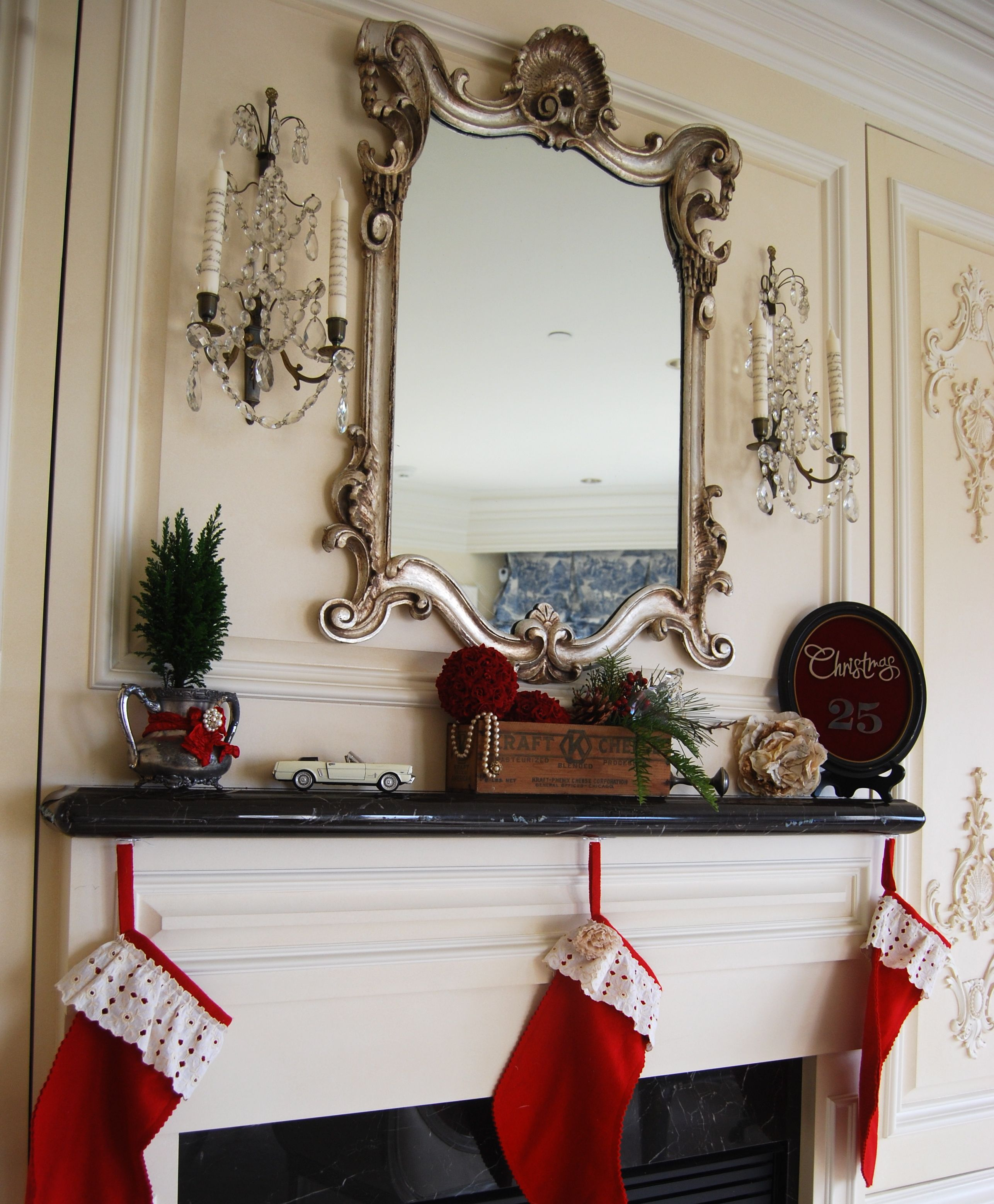 In My Own Style Christmas Mantel
