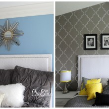 Identical upholstered headboards