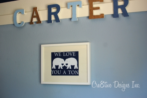 we love you a ton print for a nursery