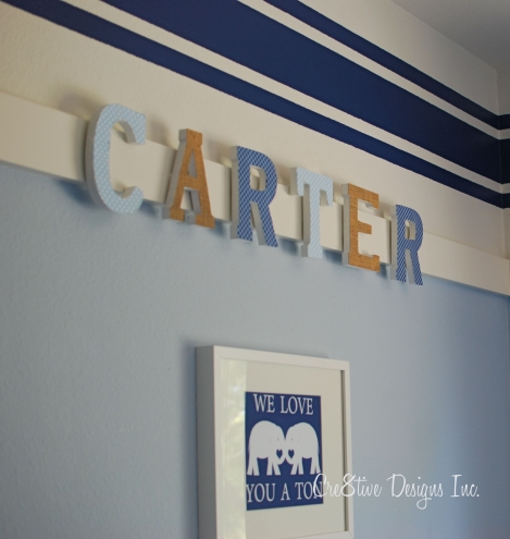 Hanging Letters for baby's room