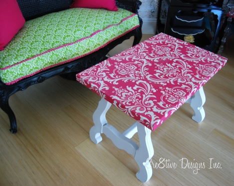 Pink damask Coffee Table