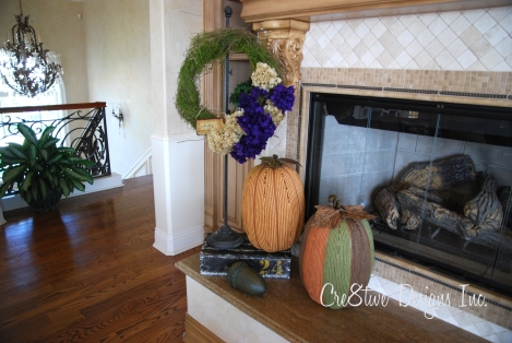 yarn wrapped pumpkins