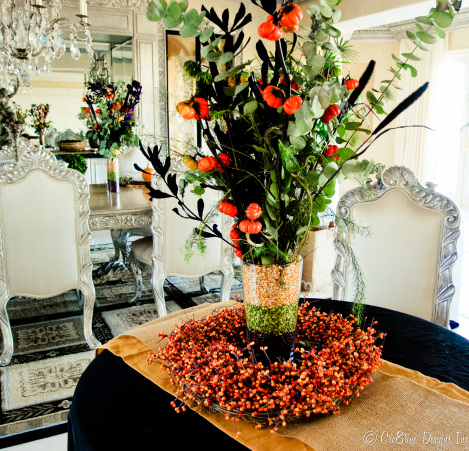 Beans used as a vase filler