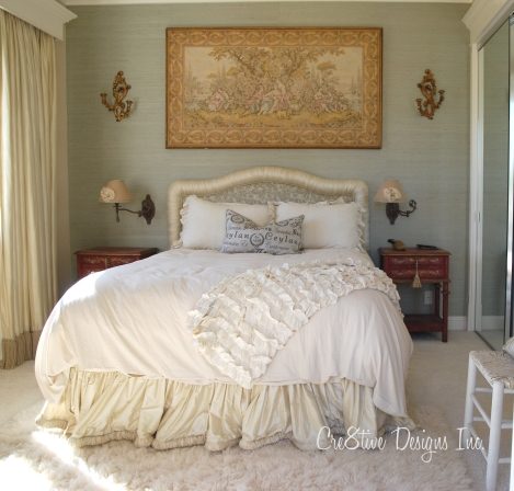 Muted colors for a guest bedroom