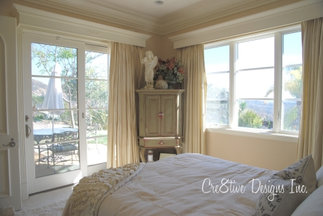 guest bedroom with a view