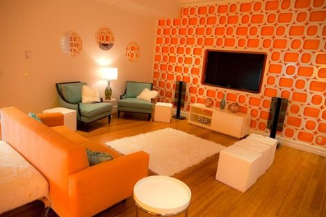 Orange and Turquoise Room for Apartment Therapy Color contest