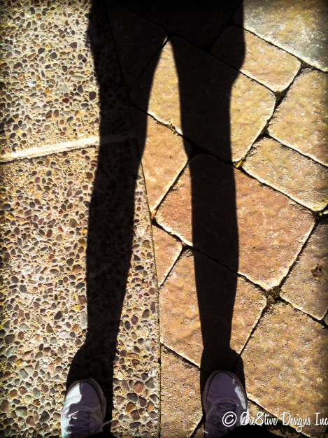shadow of legs