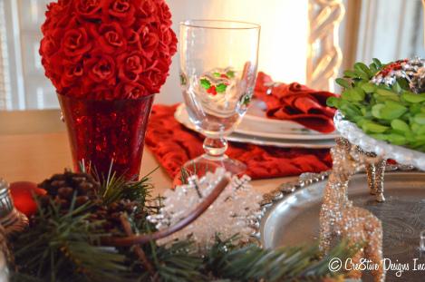 Glittery reindeer ornaments