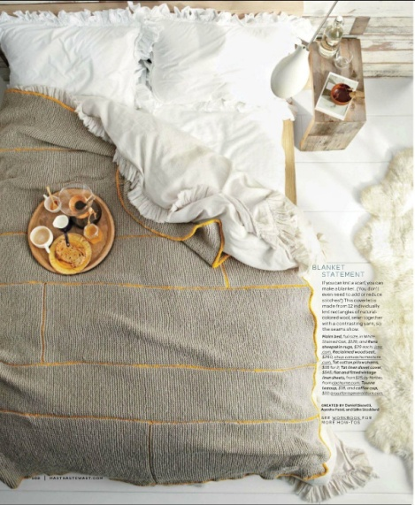 knitted bedspread from Martha Stewart Living Magazine