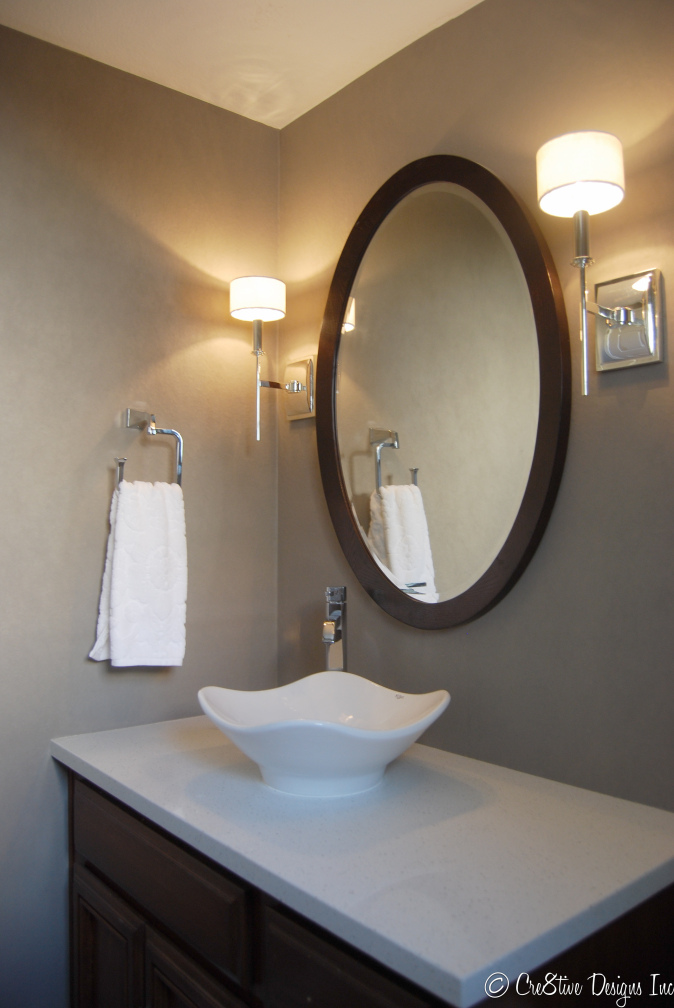 Bathroom silver wall sconces