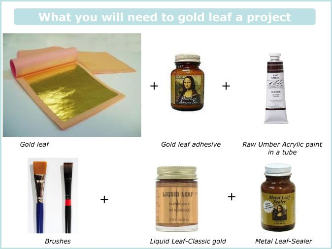 gold leaf supplies