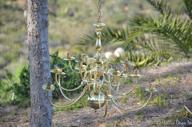 Transformation of a brass chandelier