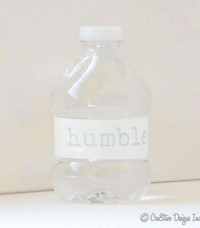 Finished label on a bottle using DIY contact paper