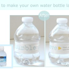 How to make your own water bottle label