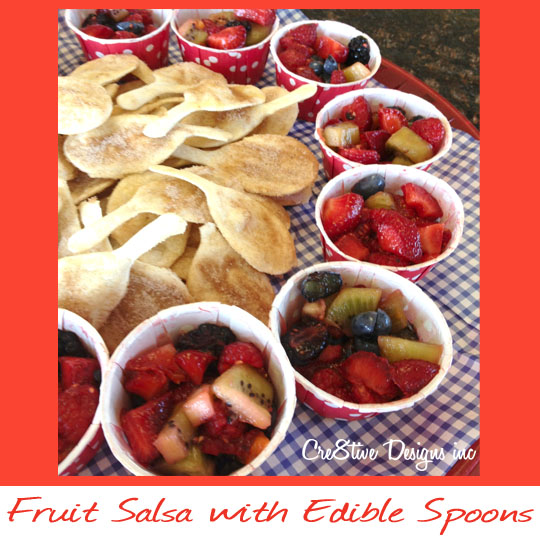 Fruit Salsa with Edible Spoons