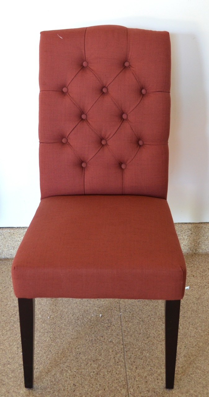 Red World market uphohstered dining chair