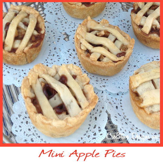 mini apple pie with lattice top