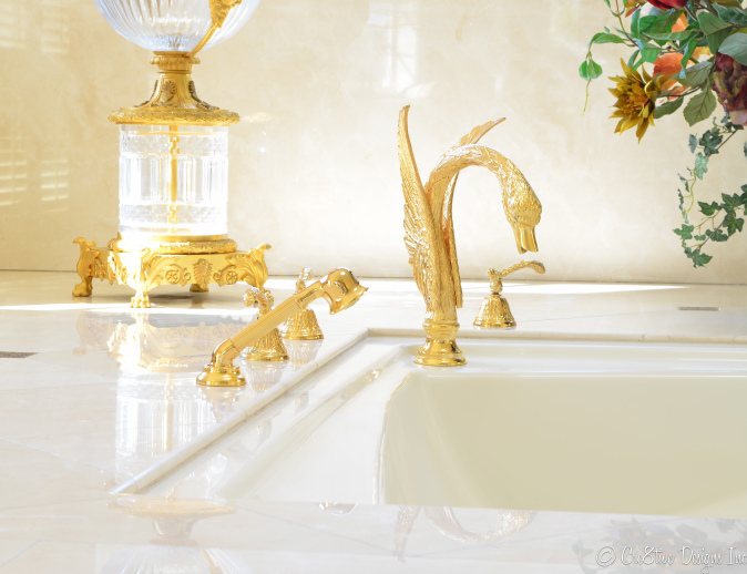 Master bathroom with swan facuet