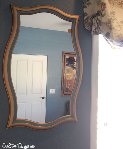 HomeGoods mirror painted with liquid gold
