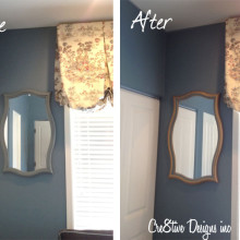 HomeGoods mirror before & after