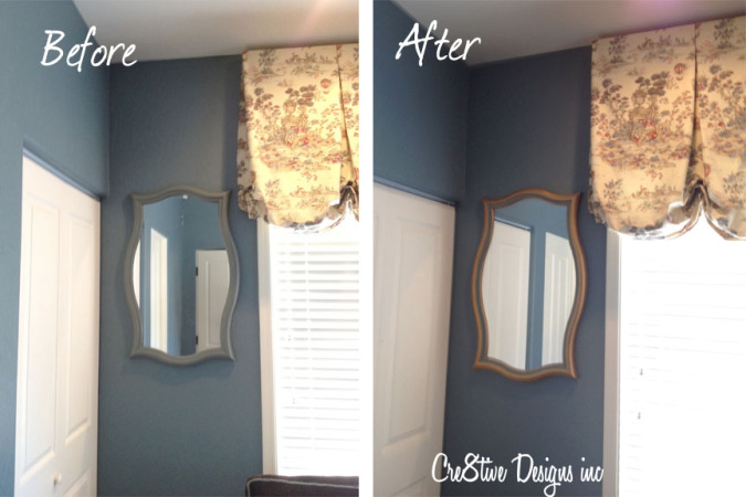 HomeGoods mirror before &amp; after
