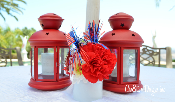 4th of July carnations centerpieces