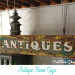 "Making an ""Antiques"" neon sign into an outdoor light fixture"