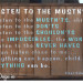Listen To The Mustn'ts sign