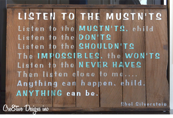 Listen To The Mustn'ts
