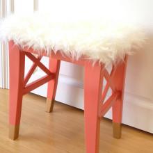 Dipped leg Ikea stool