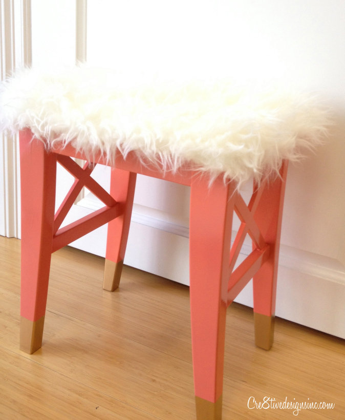 Dipped leg Ikea stool