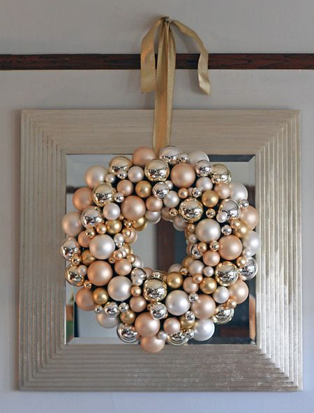Ornament wreath via living artfully