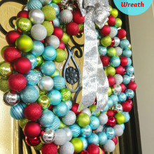 Hula Hoop Ornament Wreath