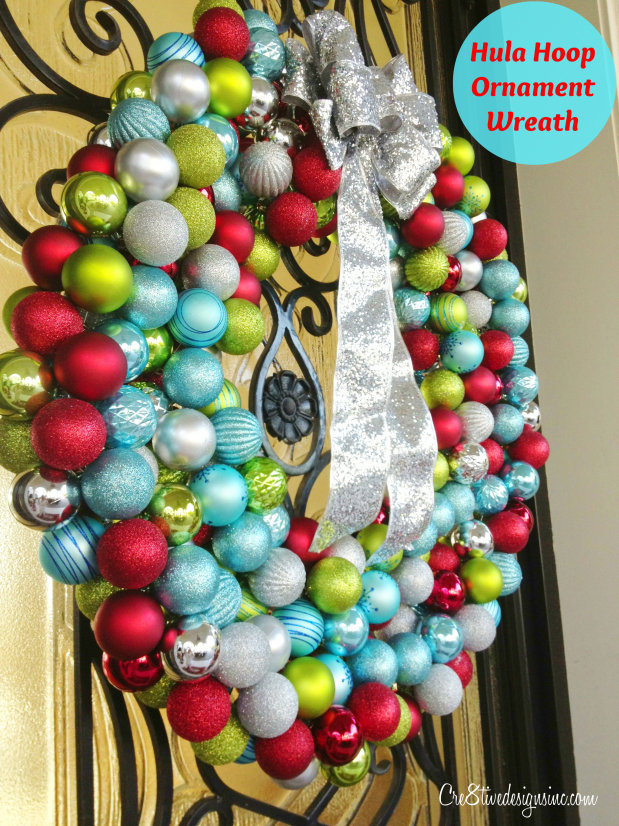 Hula Hoop Ornament Wreath