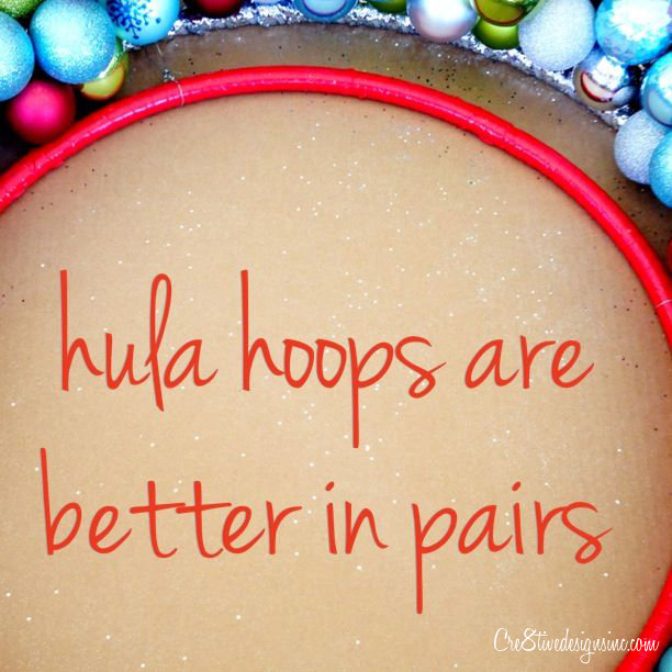 two hula hoops