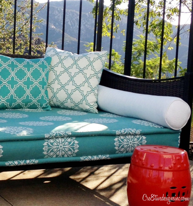 Trellis design outdoor pillows