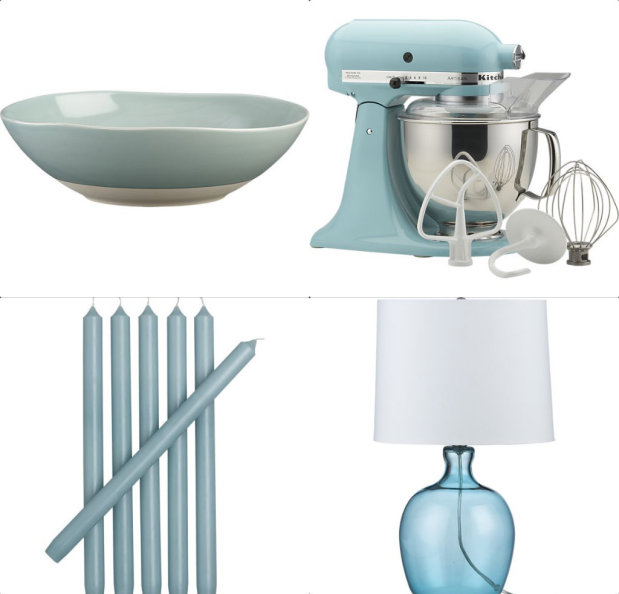 Blue trending appliances and decor