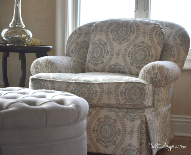 family room chairs with tufted ottoman