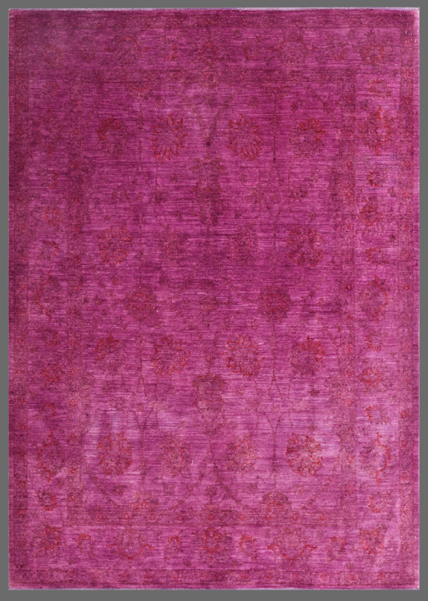Fuchsia over dyed rug