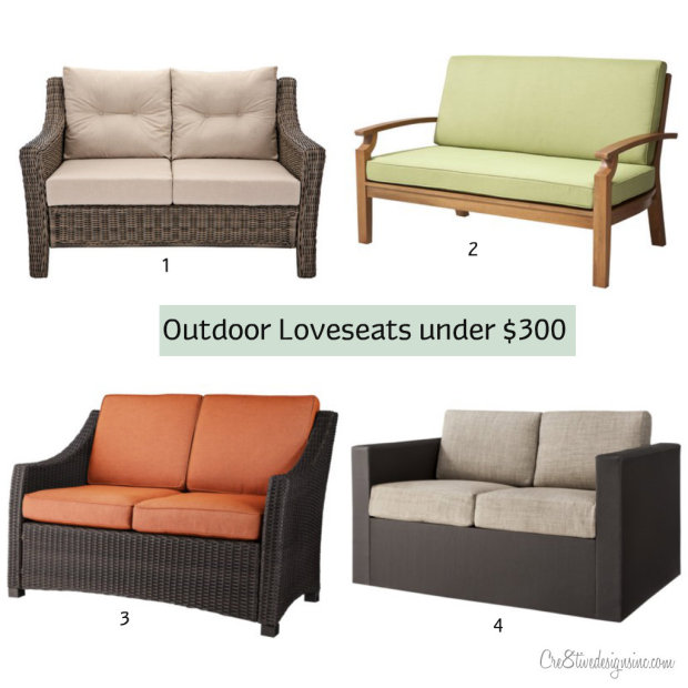 Outdoor loveseats for under $300