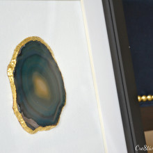 Agate slice gold leafed & framed