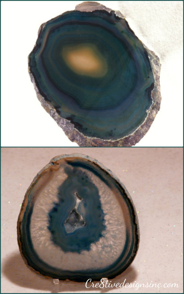 Blue Agate slices