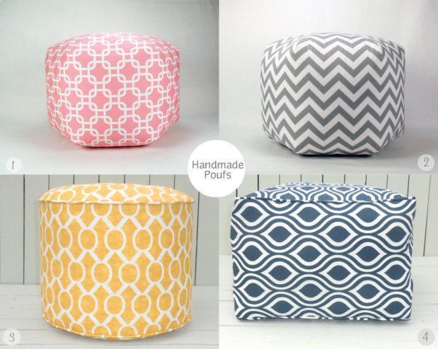 Handmade Poufs on Etsy