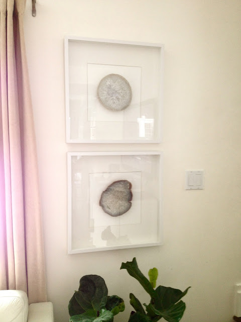 Framed agate slices via Moth Design