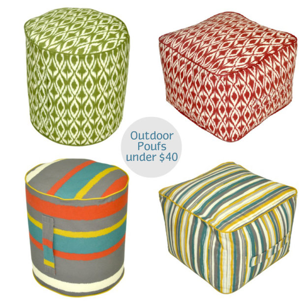 Outdoor Poufs at Target