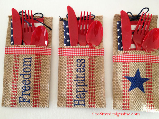 4th of july utensil holders