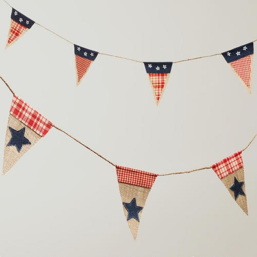 Americana Fabric Garlands for the 4th of July
