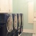 Navy and mint laundry room
