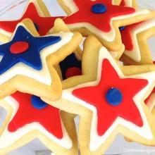 Patriotic stars cookies