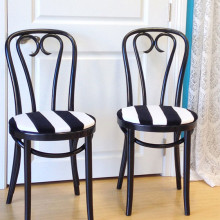Black and white chairs bentwood chairs